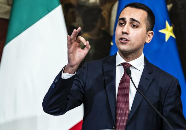 Le vice-président du Conseil italien, Luigi Di Maio