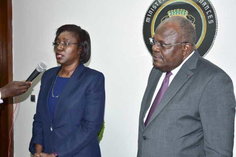 Korotoumou Ouattara et Calixte Nganongo face à la presse