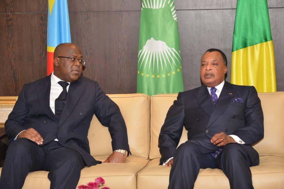 Félix Tshisekedi et Denis Sassou N'Guesso