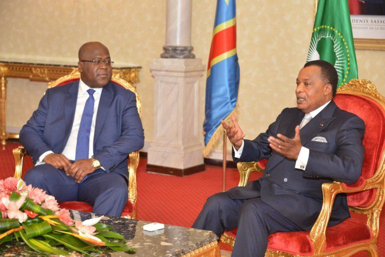 Denis Sassou Nguesso et Félix Tshisekedi