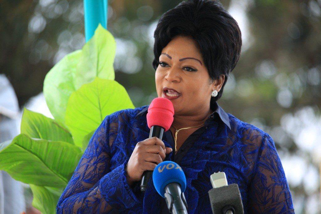 La ministre de la Promotion de la femme et de l'intégration de la femme au développement, Inès Bertille Nefer Ingani