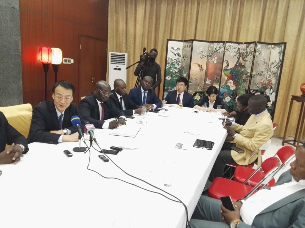 L'ambassadeur de Chine au Congo, Ma Fulin, lors du déjeuner de presse, ce 27 février 2019