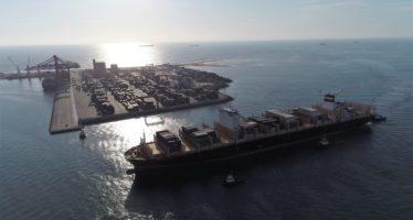 """Navigation: """"Kota Perkasa"""", l'un des plus gros porte-conteneurs, accueilli par Congo Terminal"""