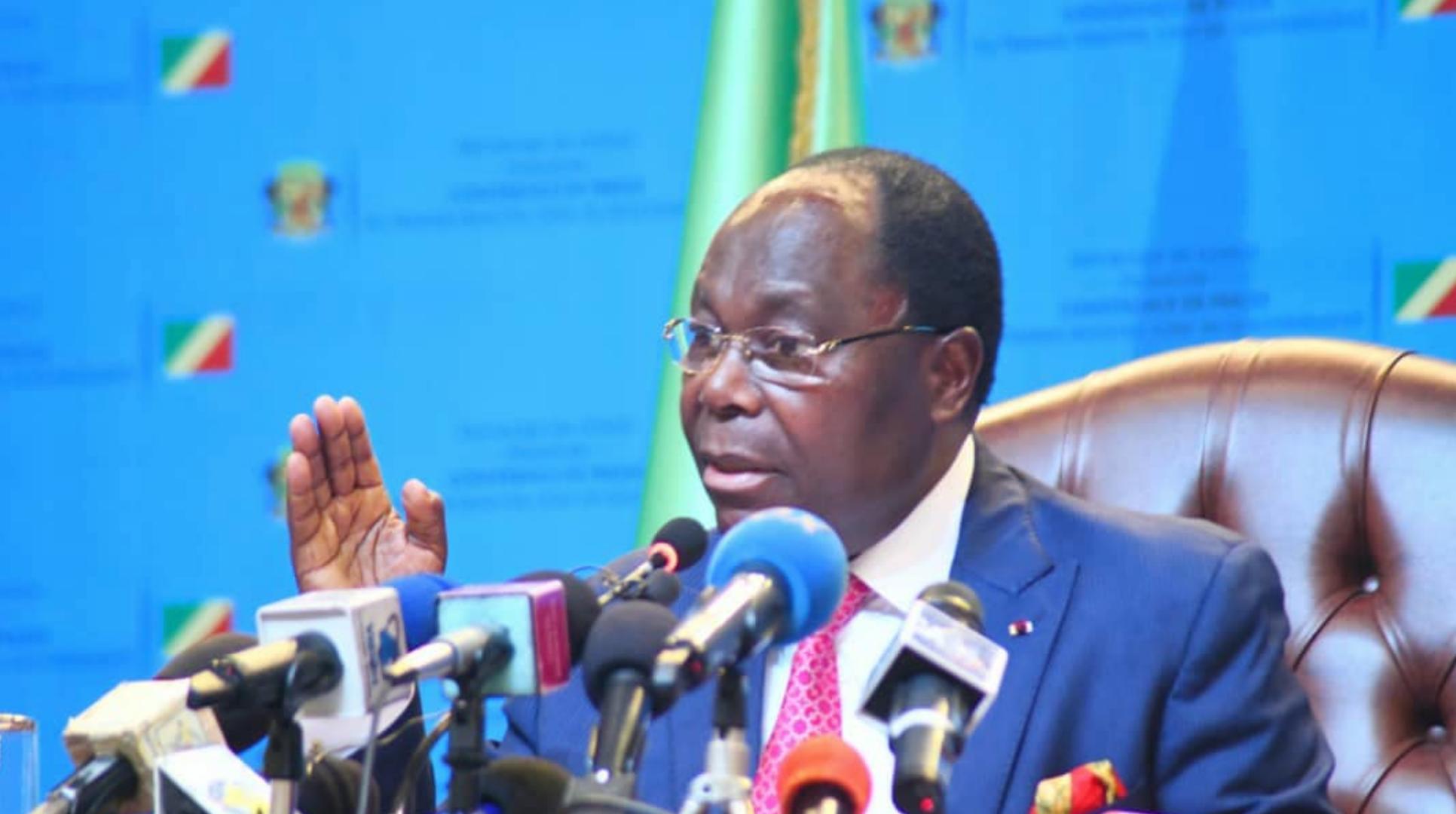 Le Premier ministre congolais, Clément Mouamba