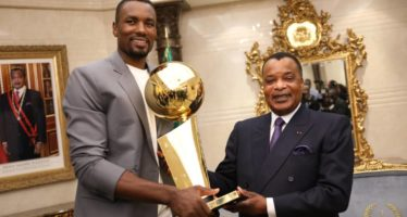 Basketball: Serge Ibaka reçu par Denis Sassou N'Guesso