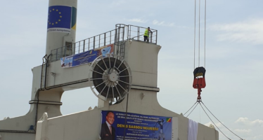 Mise en service des grues au port de Brazzaville