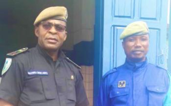 Congo :  Le commissaire du PSP de Vindoulou présenté à la presse par le commissaire central de Pointe-Noire