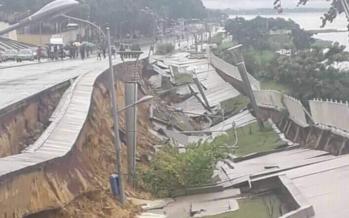 Brazzaville : la corniche qui a coûté plus de 72 milliards FCFA s'effondre après la pluie