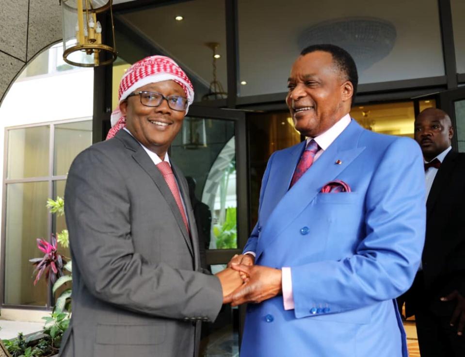 Umaro Sissoco Embalò et Denis Sassou-N'Guesso, le 04 janvier 2020, à Brazzaville