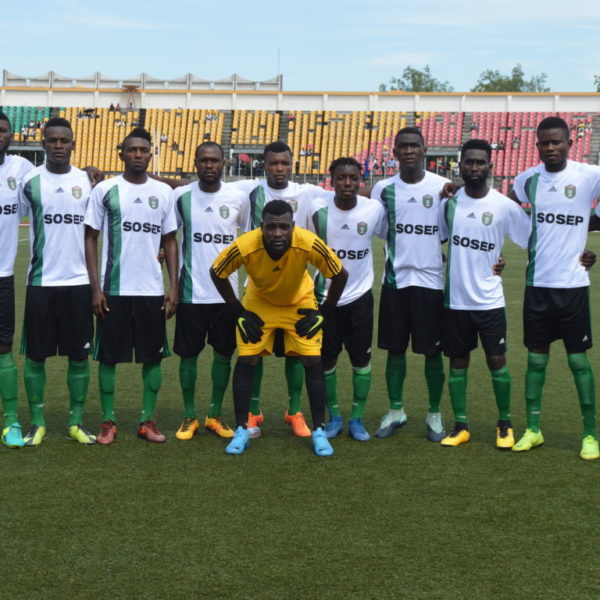 L'équipe de V Club Mokanda 9e de la saison en cours