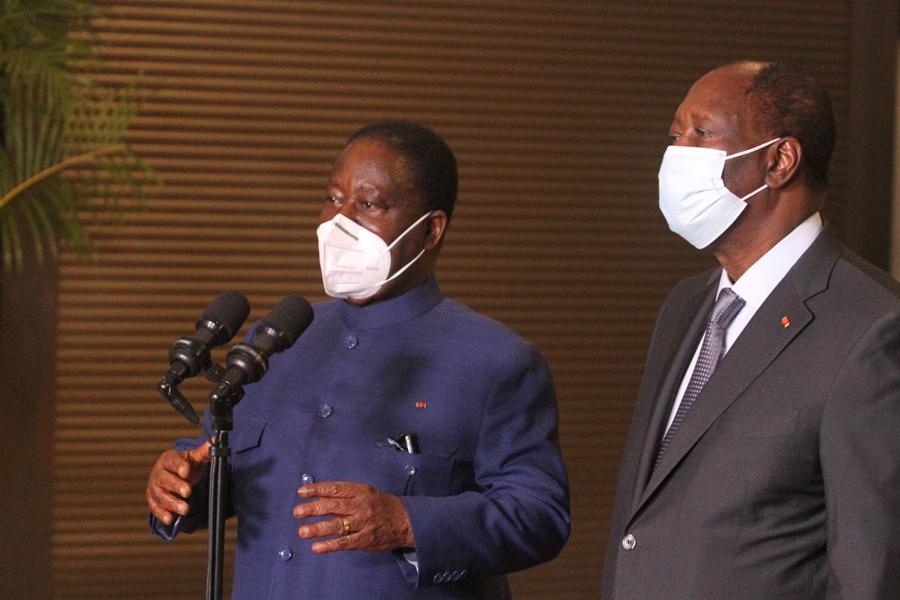 Ouattara et Bédié