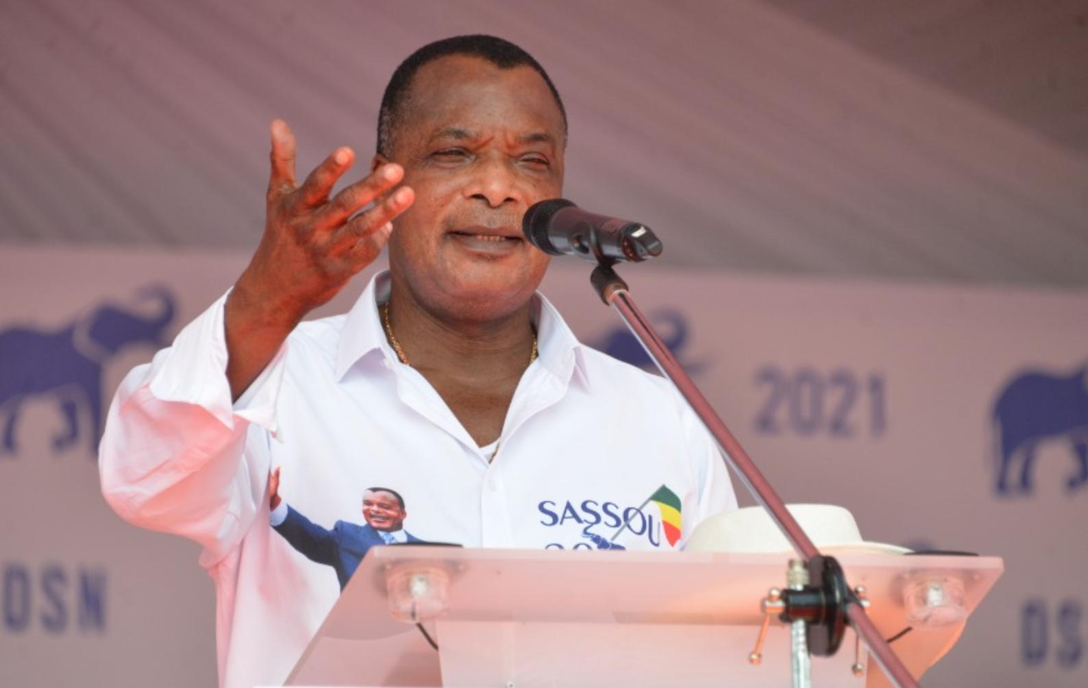 Le président sortant du Congo, Denis Sassou Nguesso